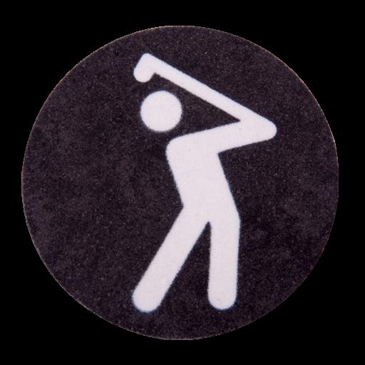 Golf - Mann - Piktogramm