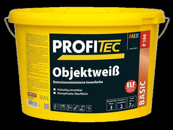 ProfiTec P104 Objektweiß - Wandfarbe 12,5 Liter
