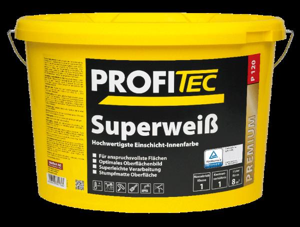 ProfiTec P120 Superweiß 5 Liter - Wandfarbe