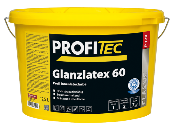 ProfiTec P170 Glanzlatex 60 - Latexfarbe 12,5 Liter