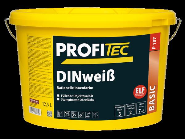 ProfiTec Wandfarbe P 107 DINweiß 12,5 Liter