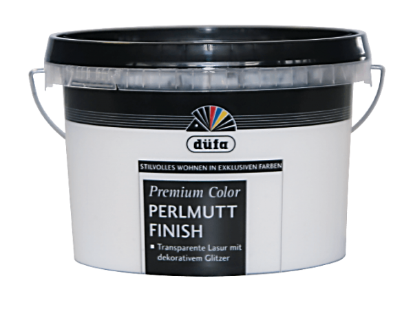Premium Color Perlmutt Finish 1 Liter Lasur mit Glitzereffekten