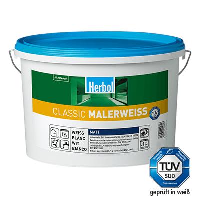 Herbol Classic Malerweiss 5 Liter - Wandfarbe