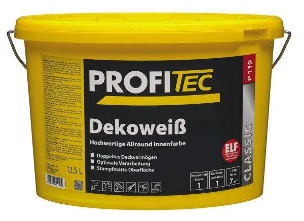 ProfiTec Wandfarbe P 119 Dekoweiß 12,5 Liter