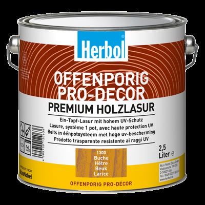 Herbol Offenporig Pro-Décor - Holzlasur versch. Farben 2,5 Liter