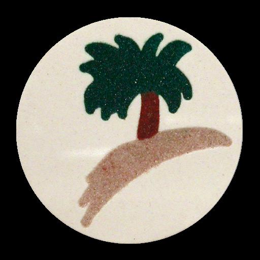 Palme Hawai dreifarbig gefugt in E4