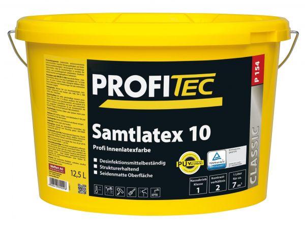 ProfiTec P154 Samtlatex 10 weiß - Latexfarbe 12,5 Liter