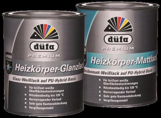 düfa Premium Heizkörperlack - Acryllack 2,5 Liter
