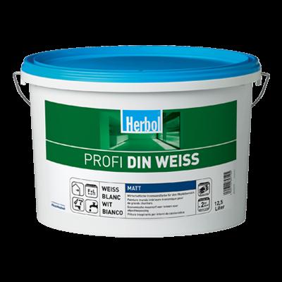 Herbol Wandfarbe Profi DIN Weiß 12,5 Liter