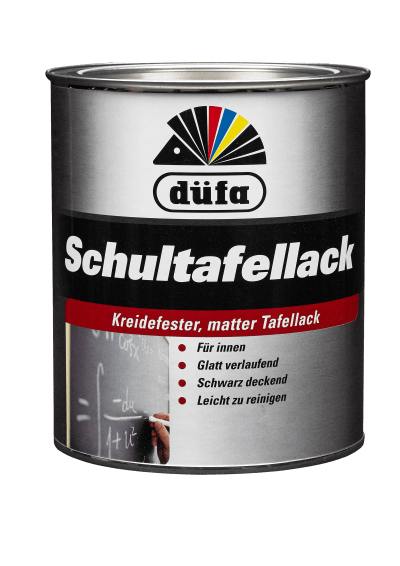düfa Schultafellack Schwarzmatt - Lack 0,75 Liter