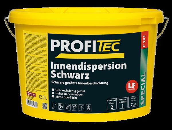 ProfiTec Wandfarbe P 101 Innendispersion Schwarz 12,5 Liter