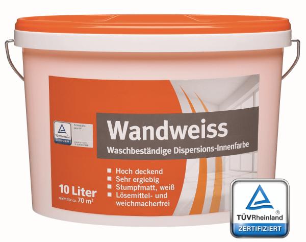 meffert AG Wandfarbe TÜV-Zertifziert - Innenwandfarbe weiß