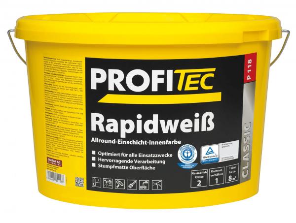 ProfiTec P118 Rapidweiß 5 Liter - Wandfarbe