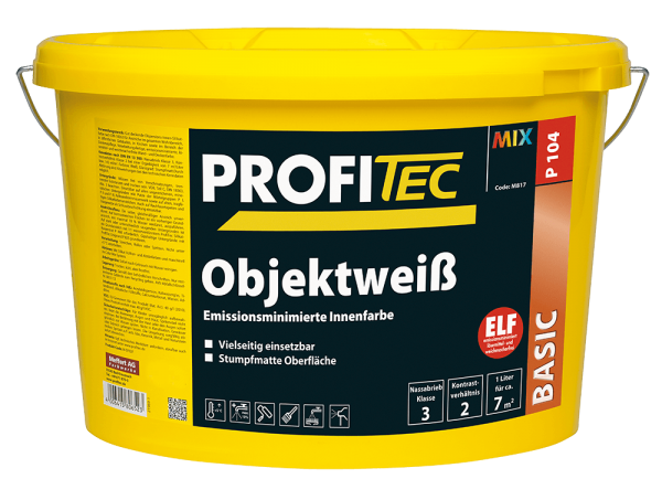 ProfiTec Wandfarbe P 104 Objektweiß 5 Liter