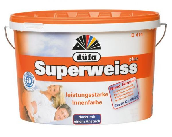 düfa Wandfarbe D 414 Superweiss plus 12 Liter
